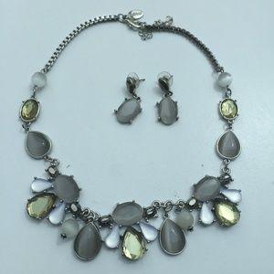 White House Black Market Necklace & Earrings